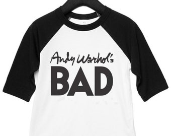 Andy Warhols Bad as Worn by Blondie Debbie Harry Classic Baseball Top Kids Band T-shirts Baby Toddler T-shirt