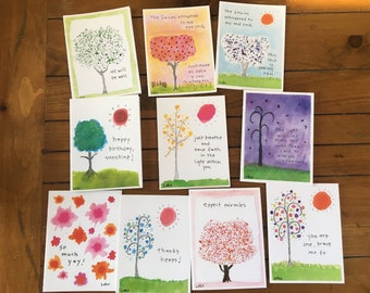 Create your own 4 pack whimsical watercolor greeting cards create your own 6 pack whimsical watercolor greeting cards m4hsunfo