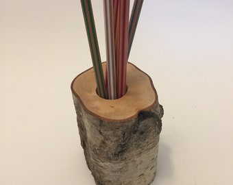 wood pen holder large hole