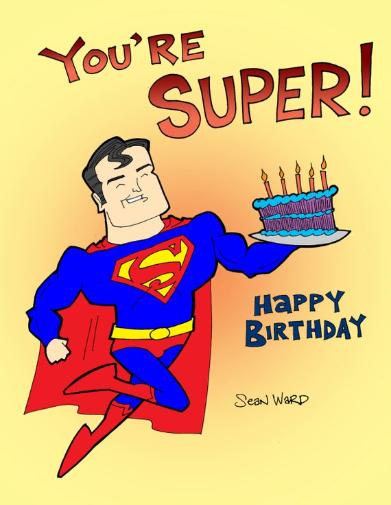Similar to superman birthday card on etsy items similar to superman birthday card on etsy bookmarktalkfo Image collections