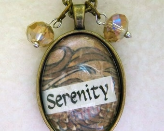 Serenity - Healing Art Necklace, No.33