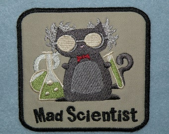 """Mad Scientist Iron on Patch-4"""""""