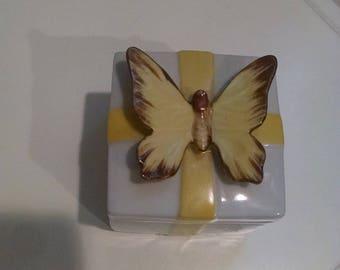Shafford Japan Butterfly trinket box, free ship