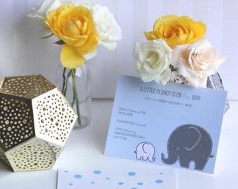 Super cute elephant invitation
