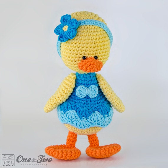 Duck Amigurumi Pdf Crochet Pattern Instant Download
