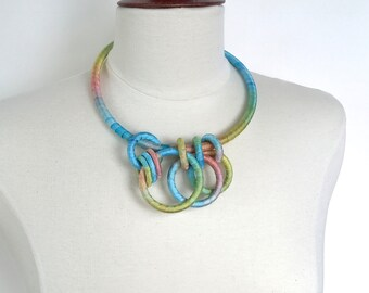 Textile Collar Necklace Buttercup