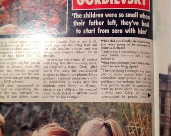 Vintage hello magazine 1998.