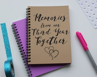 Memories from our Third Year Together -  5 x 7 journal