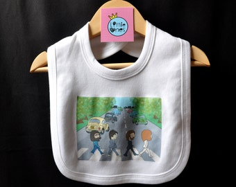 The Beatles Abbey Road Zebra Crossing Baby Bib Gift UK Seller