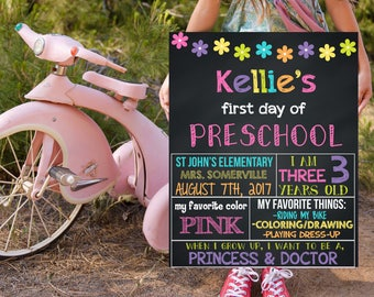 First Day Of Preschool, Back To School Signs, 1st Day Of Preschool, First Day Of School Signs, Printable Signs, Chalkboard Signs