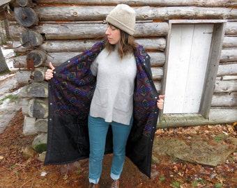 US Made REI Fleece Lined Hooded Parka. Vintage 90s. See Details.