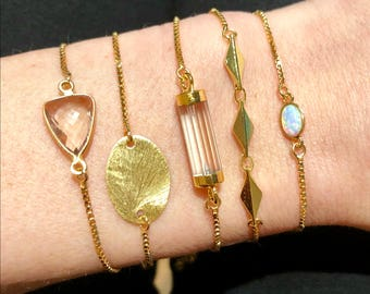 Slider Bracelet - Gold