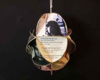 Linda Ronstadt Album Cover Ornament Made Of Repurposed Record Jackets