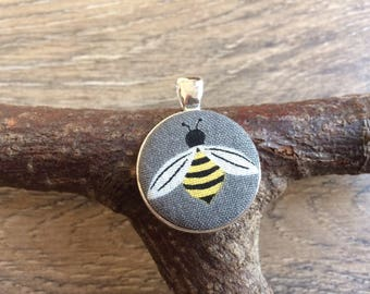 Bee pendant, bee print, bee necklace, bee jewellery, bee gift, bee lover gift, insect print, insect gift, insect jeweller, stocking filler