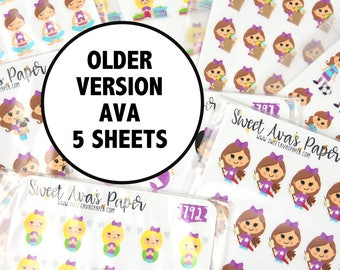Planner Sticker Grab Bag - Ava Sticker Grab Bag - Planner Stickers - Fits Most Planners - Mystery Planner Stickers - Grab Bag