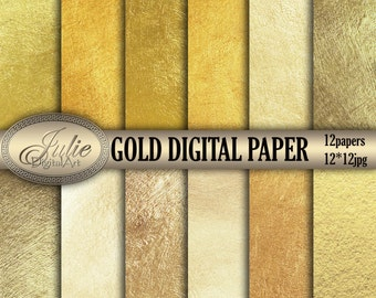 Metallic digital papers Gold backgrounds Gold texture Foil background Foil digital paper Metallic texture digital Gold metallic backgrounds