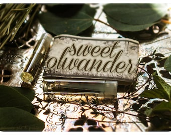 sweet olivander - natural perfume oil mini sampler pack - 2 vials - primary notes: lilac and field