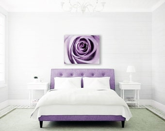 Purple Decor, Canvas Wall Art, Modern, Large Canvas Art, Flower Photography, Bedroom Wall Art