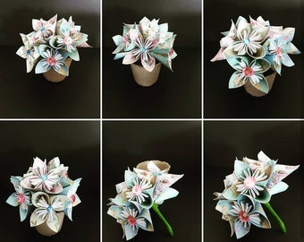 Paper Flowers, Handmade Flowers, Origami Flowers, Handmade Paper Flowers, Paper Flower Decor, Flower Decor, Paper Gift, Handmade Bouquet,