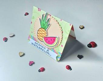 Birthday Card - Fruit Cake