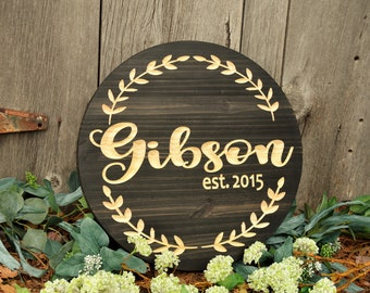 Custom Wood Sign | Last Name Sign Home Decor Family Name Signs | Living Room Decor| Gifts for Her| Wood Signs Wall Signs Last Name Plaque