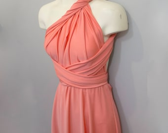 Terra Cotta Long Convetible Dress / Custom size, length / Plus size & maternity included