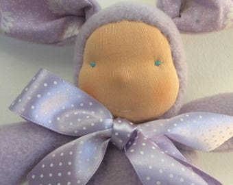 Waldorf inspired Easter bunny plush toy