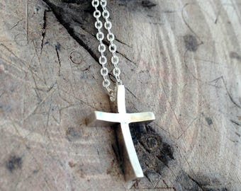 Cross necklace, Silver cross, Holy land cross, Sterling silver mens necklace, Christian jewelry, Men necklace, 925 necklace