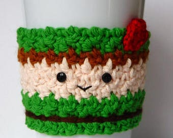 Crochet Peter Pan Coffee Cup Cozy