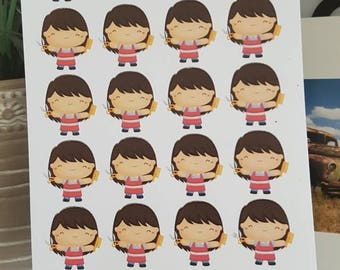 Hairdresser Planning Stickers - Erin Condren, Kikki K, Happy Planner, Filofax