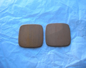 "Rounded Copper Squares, 1"" Diameter, Two Squares, Copper for Enameling, Destash Enameling Supplies, Copper Enameling Supply, Earring Blank"