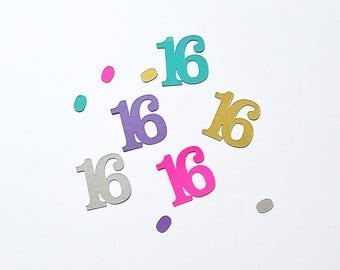 Sweet Sixteen Confetti - Any Color - 16 Confetti - Sweet 16 Confetti - Sweet 16 Party - Sweet Sixteen Birthday