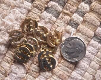 Tiny 12mm Brass Adinkra GYE NYAME Supremacy of God Charm
