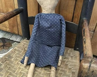 Primitive Doll In Blue