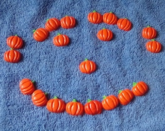 8,12 ,16 or 20 Pumpkins Polymer Clay-Halloween,Small,Flatback Pumpkins,Charms,Jewelry,Earrings,Necklace,Free Gift-Free Shipping.