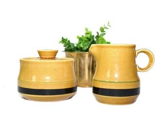 Cream and Sugar Dish Boho Creamer Pitcher Boho Sugar Bowl International Stone Ware Montezuma Bohemian Kitchen
