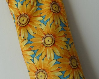 Grocery Bag Holder - Yellow Daisies on Teal