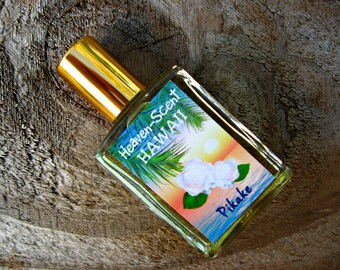 PIKAKE PERFUME (Hawaiian Jasmine). Custom-Blended Roll-on Perfume. Contains Pikake Essential Oil. Made in Hawaii. 1/2 fl oz (15 ml).