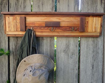 Walnut & Reclaimed Cedar Coat Rack
