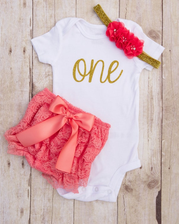 One Year Old Birthday 1st Birthday Girl Outfit Baby Girl