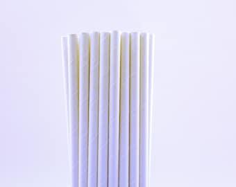 Solido bianco carta cannucce-bianco matrimonio compleanno cannucce-inverno cannucce-White Paper cannucce-solido partito cannucce-caldo cioccolato carta cannucce