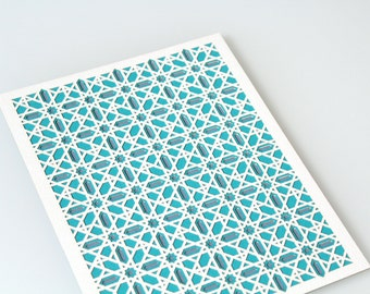 Islamic Pattern Inspired Layered Paper Lasercut Artwork