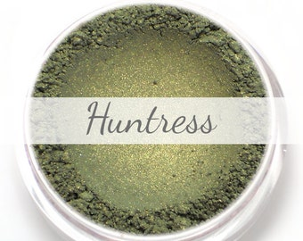 """Eyeshadow Sample - """"Huntress"""" - forest green with gold shimmer - Vegan Mineral Makeup"""