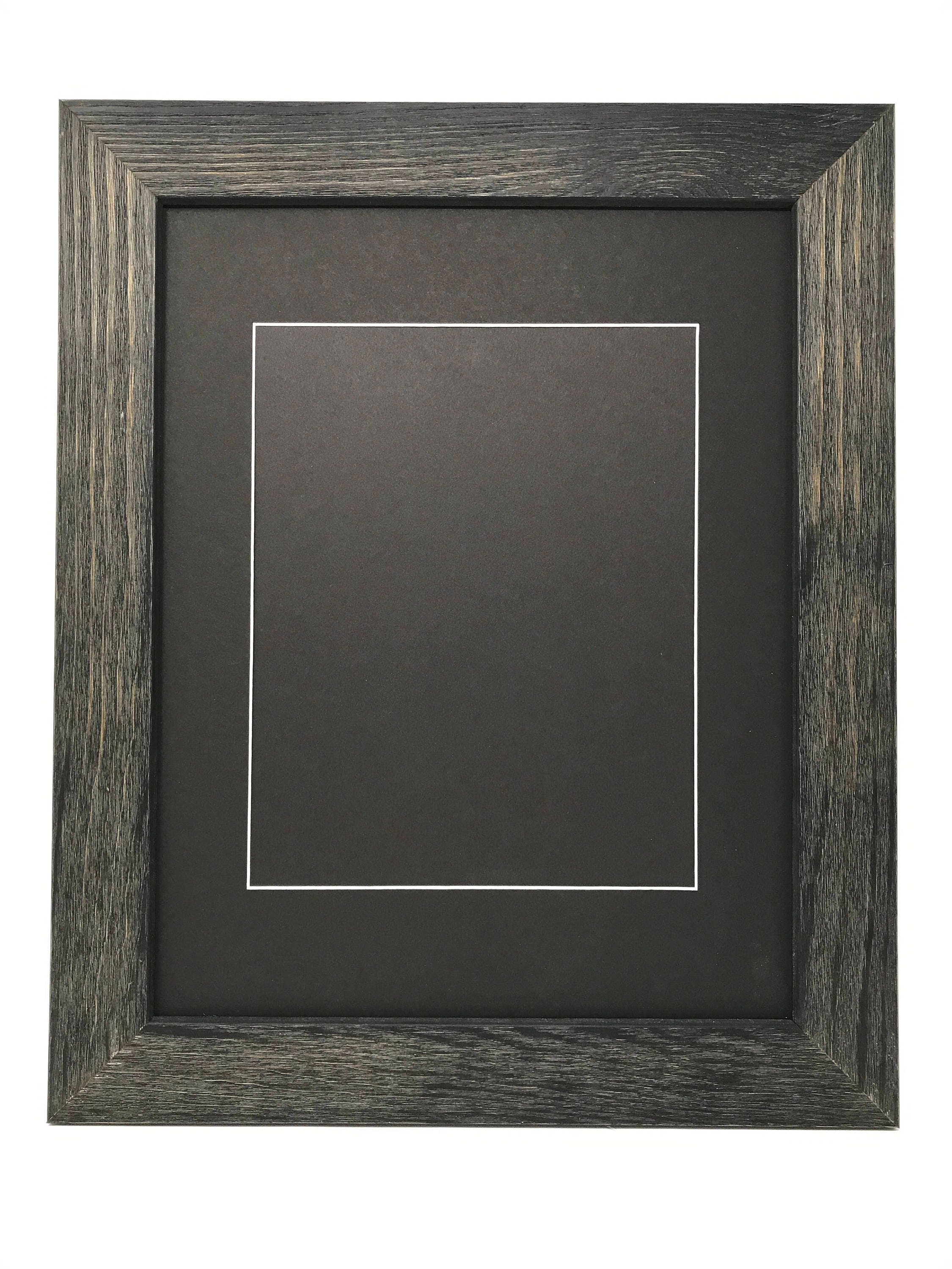16x20 175 rustic black solid wood picture frame with black 16x20 175 rustic black solid wood picture frame with black signature mat cut for 8x10 picture jeuxipadfo Gallery