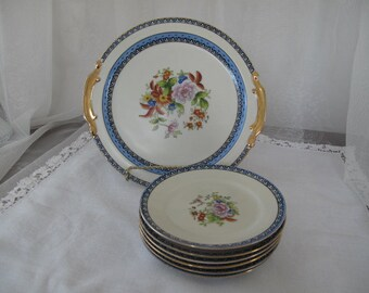 Charming Noritake Vintage Dessert Set, Fine Bone China Dishes, Floral Spring/Summer Place Settings, ECS