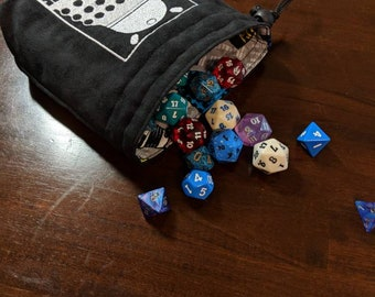 Large Embroidered Dalek Dice Bag - Ready to Ship