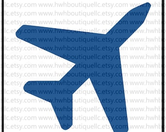 Airplane - SVG /DFX Cut Files -  Cutting Machine Files - svg, pdf, and Silhouette dfx -  Airplane Plane Piolet Svg Files Cut Files