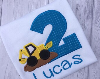 Construction Birthday Shirt - First Birthday - Digger Birthday Shirt - Boy First Birthday - Boy Birthday - Dump Truck Birthday Shirt