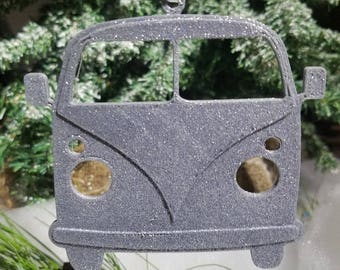 Bus Van Ornament - Personalized Bus Ornament - Hippie Christmas - Holiday Gift - Christmas Ornament - Camper Ornament -Vintage