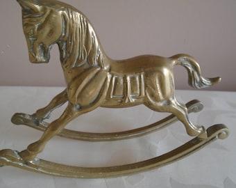 brass rocking horse ornament